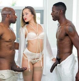 Dani Daniels service two long black..