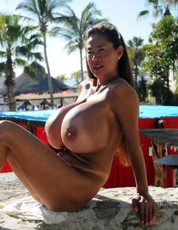 Elderly Japanese pornstar huge tits..